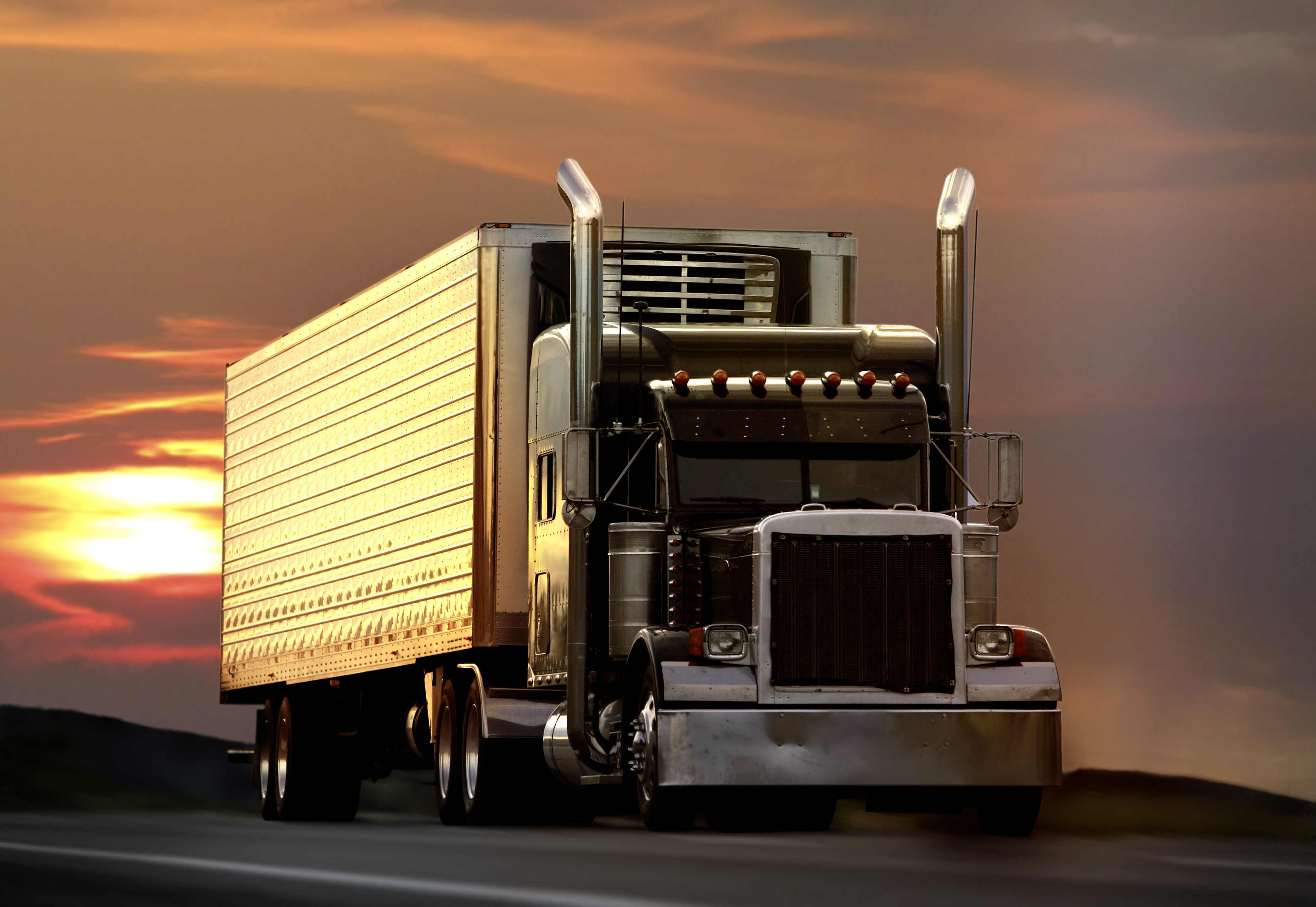 Truck Driving Away from Sunset.jpg